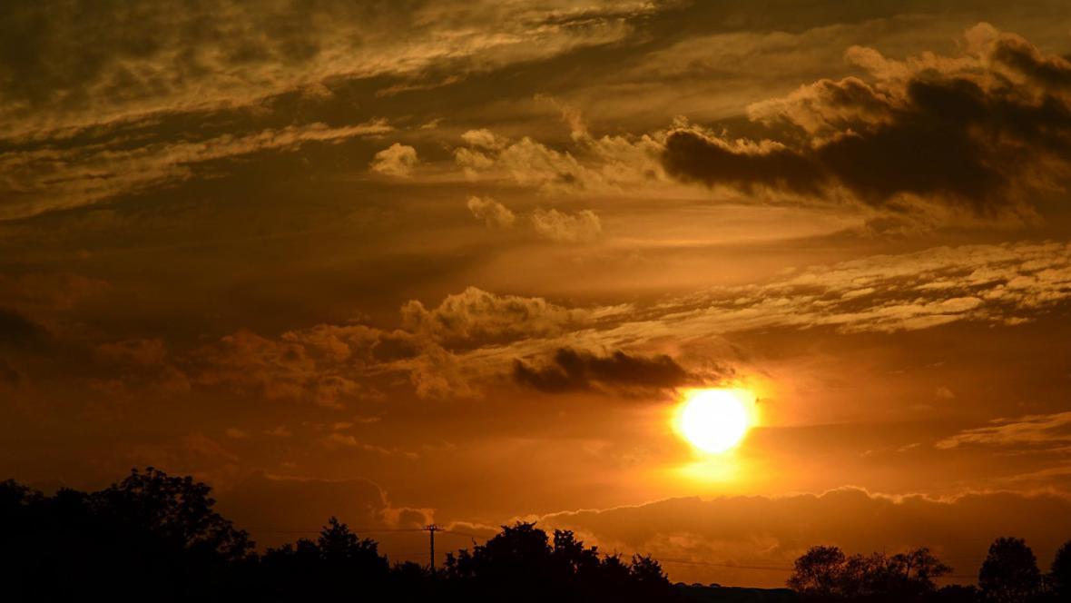 Západ Slunce na Těšínsku
