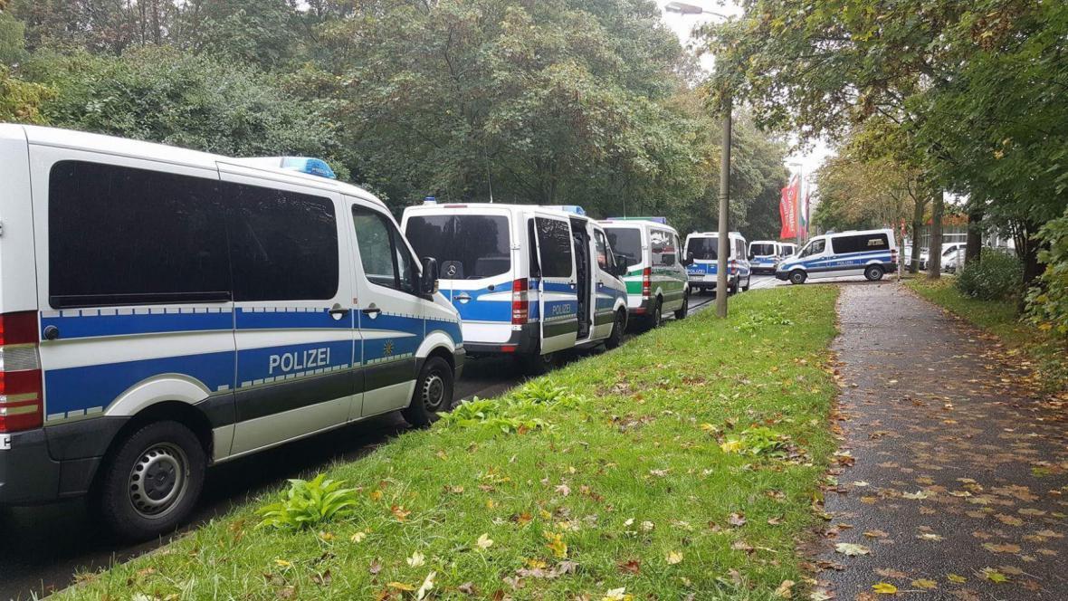Policejní akce v rezidenční čtvrti Chemnitzu