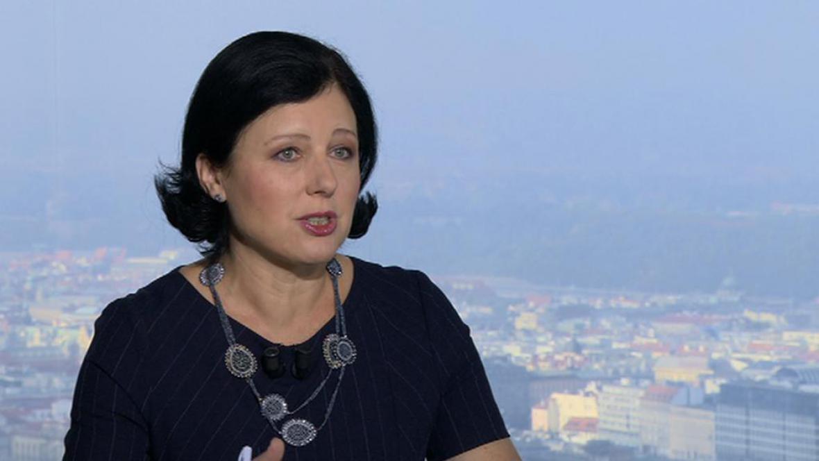 Eurokomisařka Věra Jourová v pořadu OVM