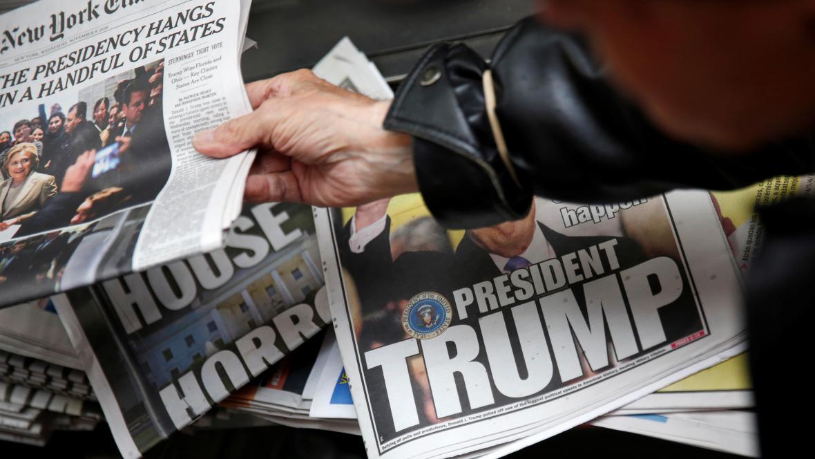 Americké noviny z 9. listopadu 2016