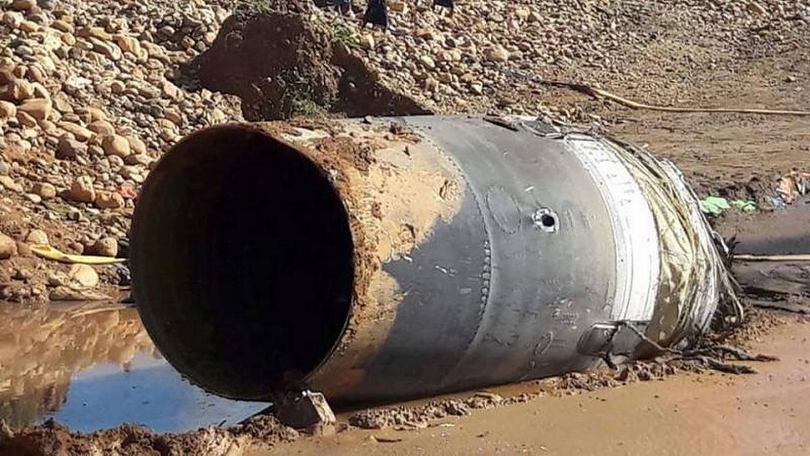 Zřejmě část čínské rakety vzbudila pozdvižení u barmského lomu