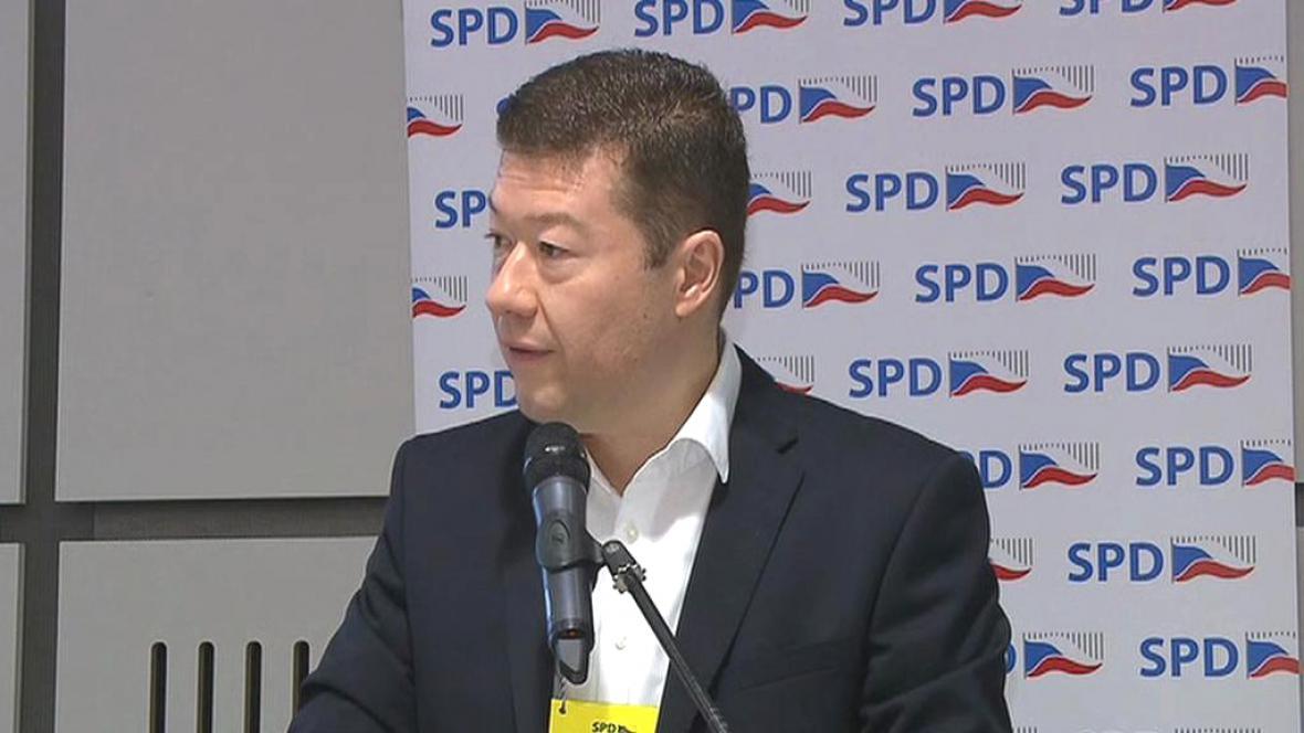 Tomio Okamura během celostátní konference SPD