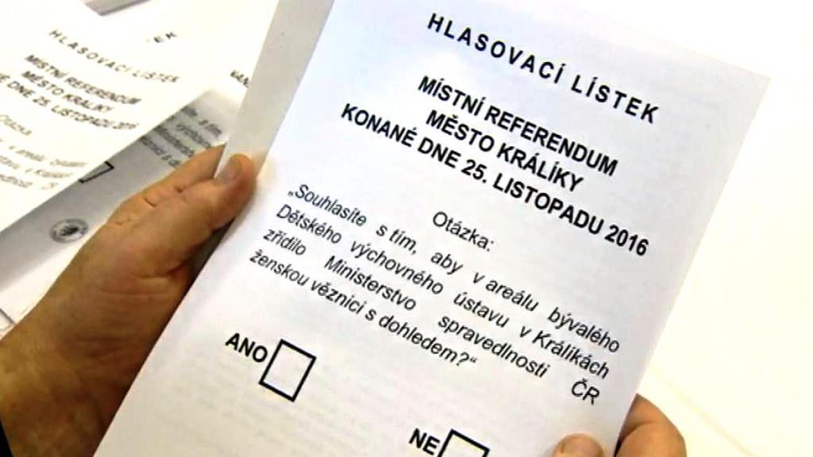 Referendum o zřízení ženské věznice v Králíkách na Orlickoústecku