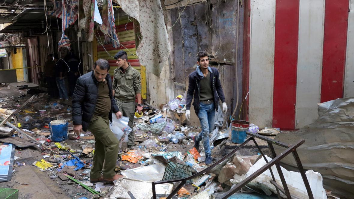 Útok na tržišti v Bagdádu