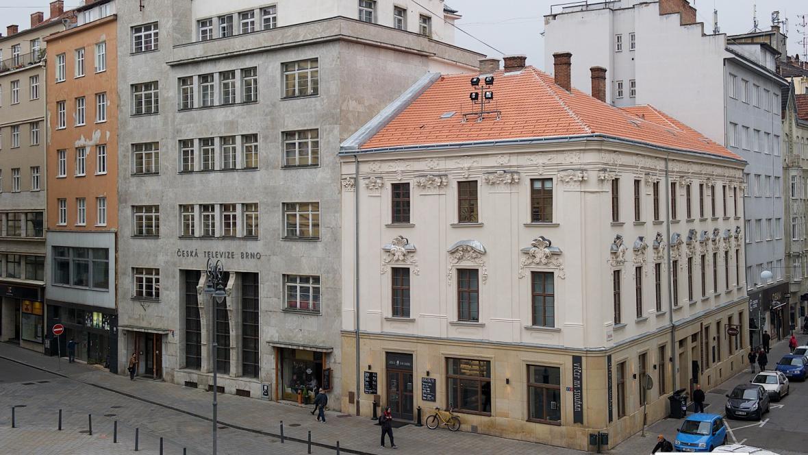 Bývalá budova České televize v Běhounské ulici v Brně