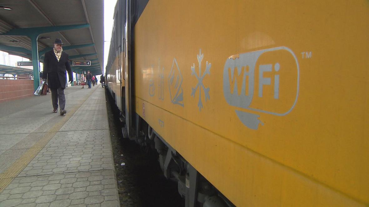 Wifi ve vlaku