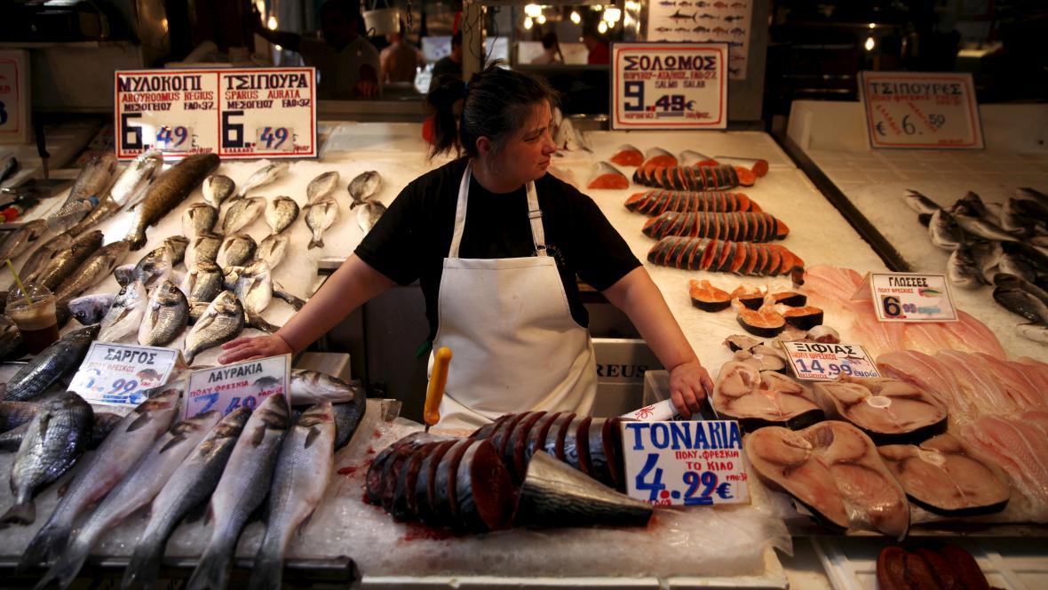 Prodej ryb v Řecku