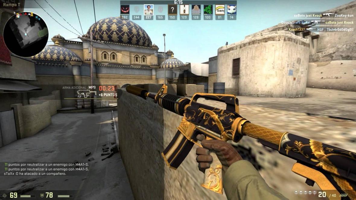 Záběry ze hry Counter-Strike