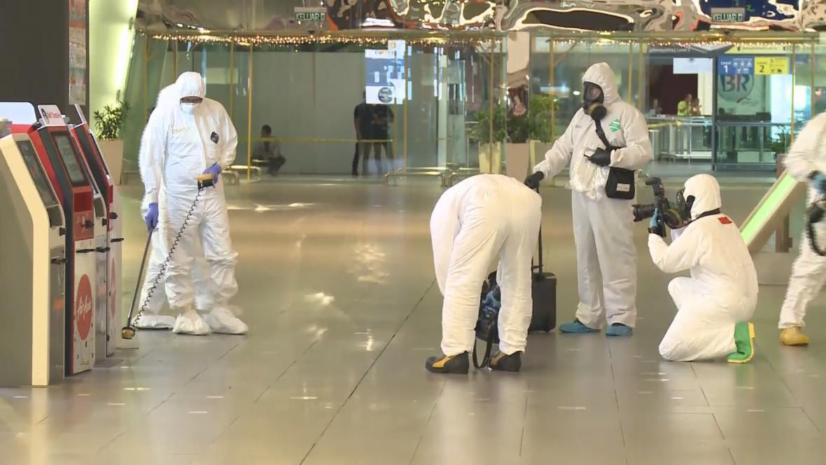 Kontrola na kualalumpurském letišti