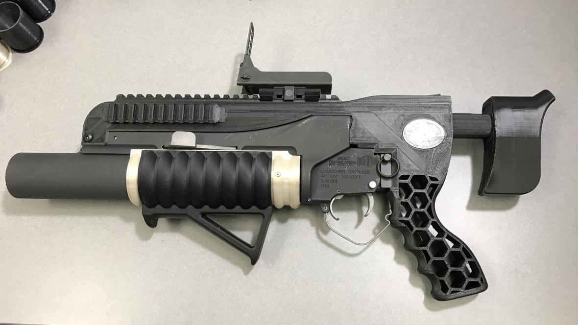 Granátomet vytištěný na 3D tiskárně