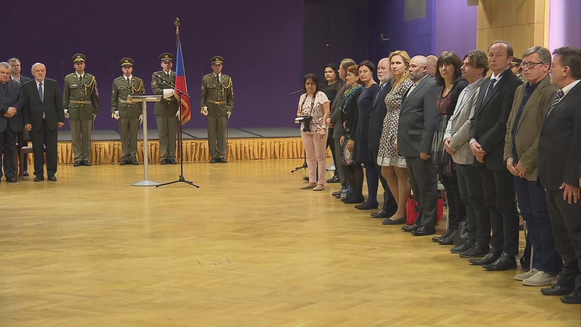 Slavnostní udělení medailí a osvědčení účastníkům třetího odboje