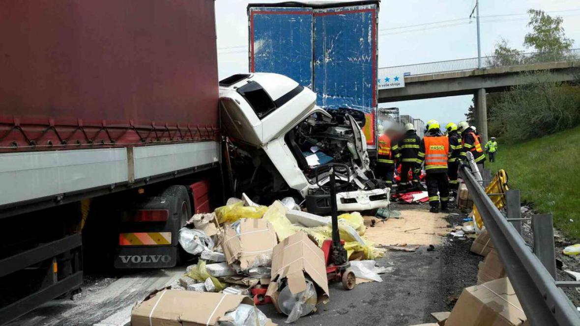 Nehoda na D1 u Vyškova