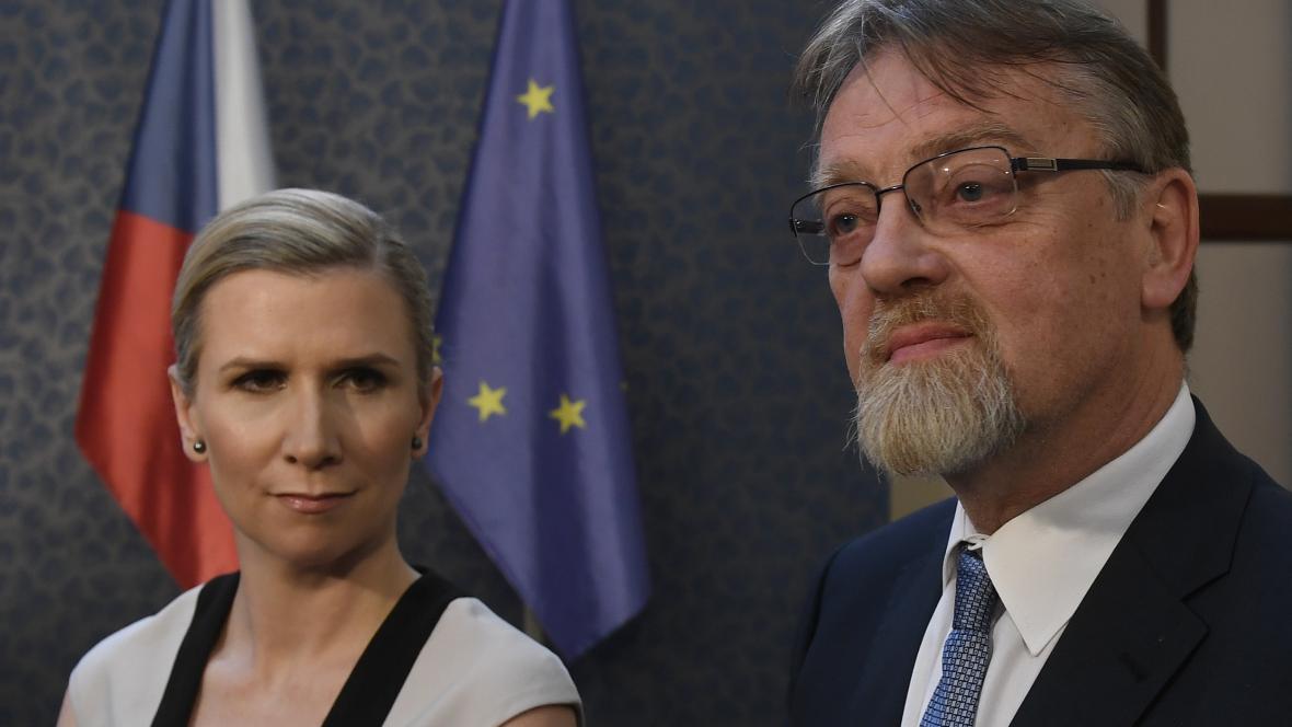 Kateřina Valachová a Stanislav Štech