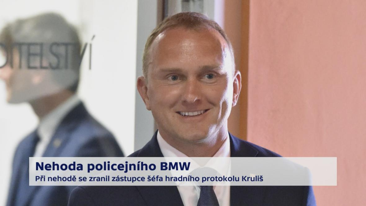 Nehoda policejního BMW