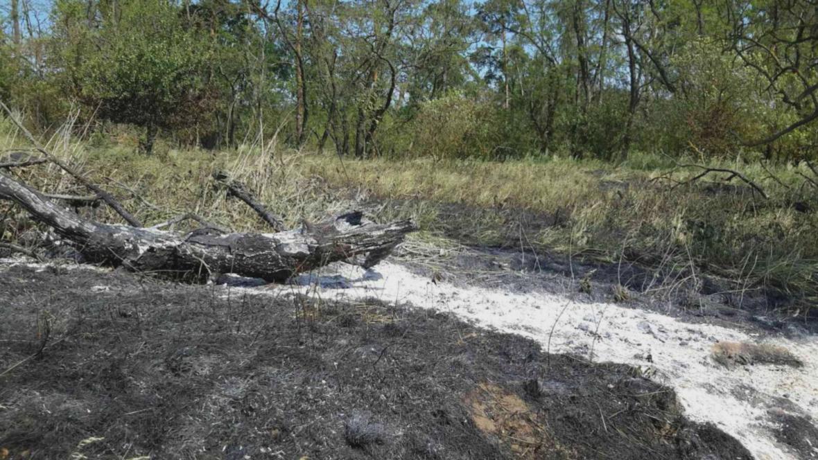 Hasiči vyjíždí k hořící trávě