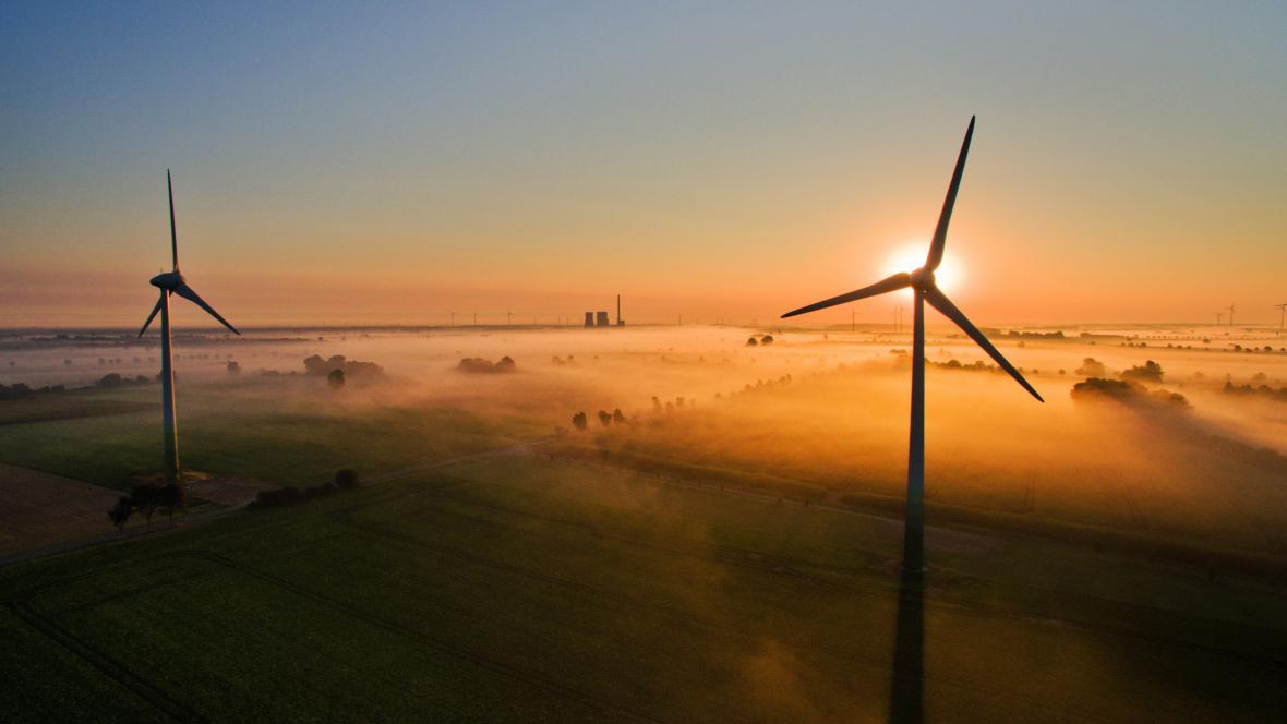 Větrné turbíny v Německu