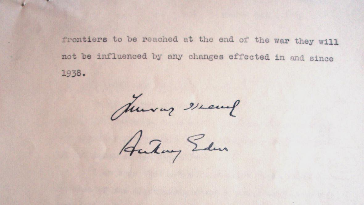 Dopis Anthonyho Edena Janu Masarykovi