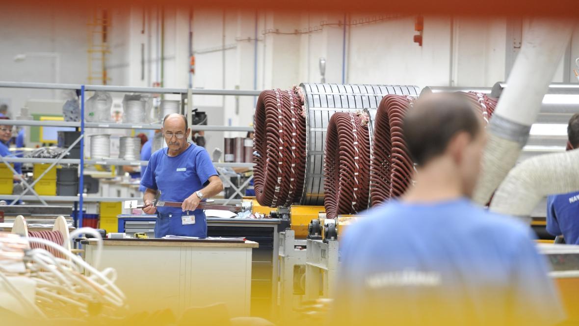 Výrobní závod Siemens Electric Machines, který vyrábí elektromotory a generátory