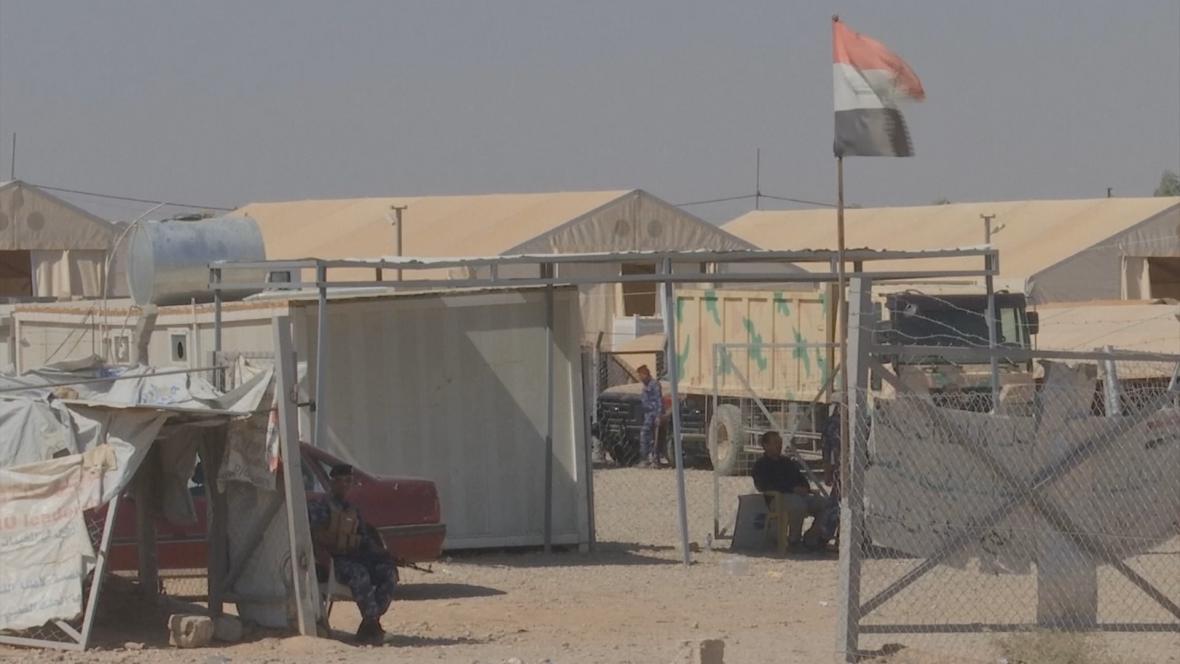 Vojenský tábor, kde jsou zadržovány rodiny islamistů
