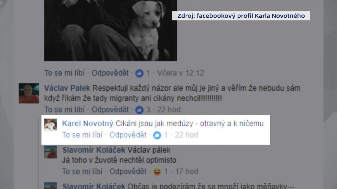 Výrok náměstka ministra průmyslu a obchodu Karla Novotného na Facebooku