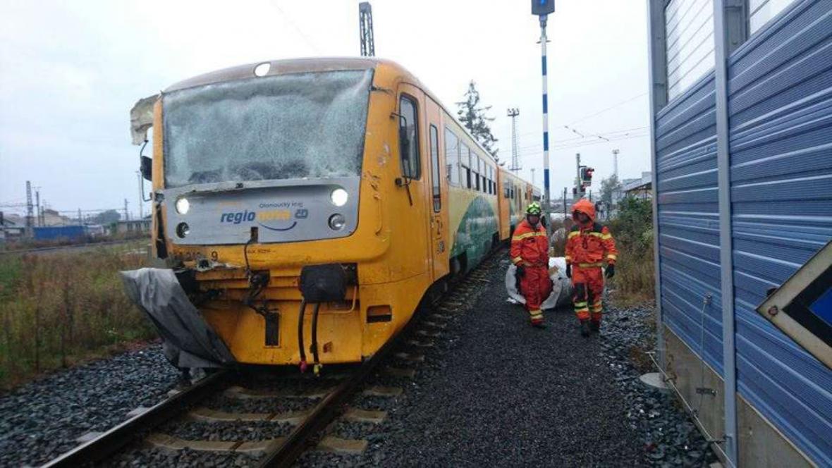 Nehoda na železnici v Olomouci