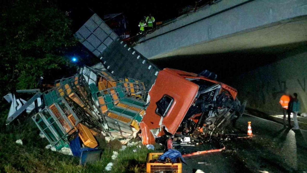Nehoda na dálnici D52