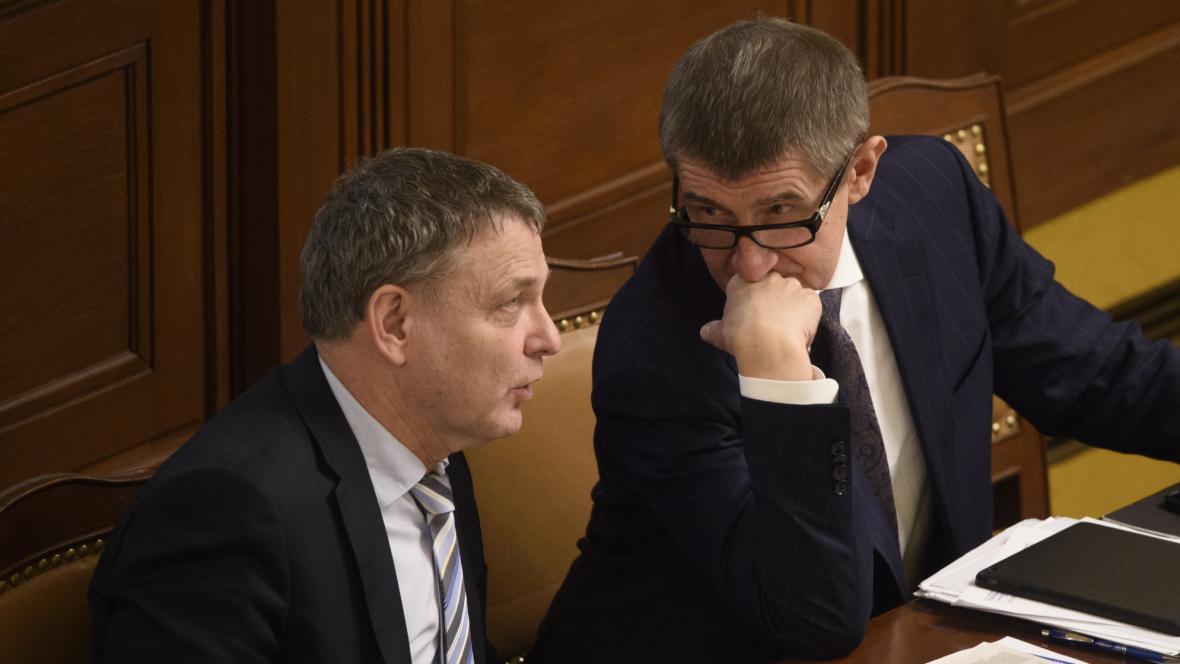 Lubomír Zaorálek (ČSSD) a Andrej Babiš (ANO)
