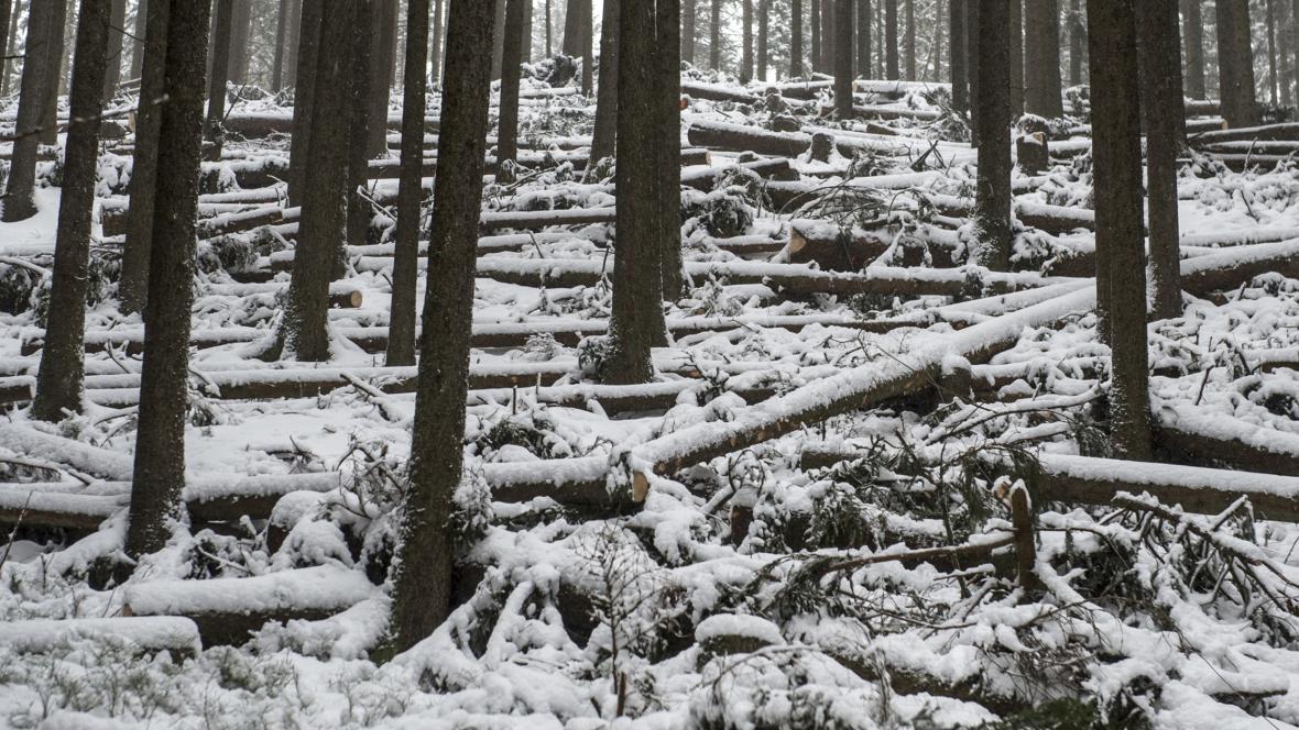 Uzavřená cesta Obřím dolem na Sněžku