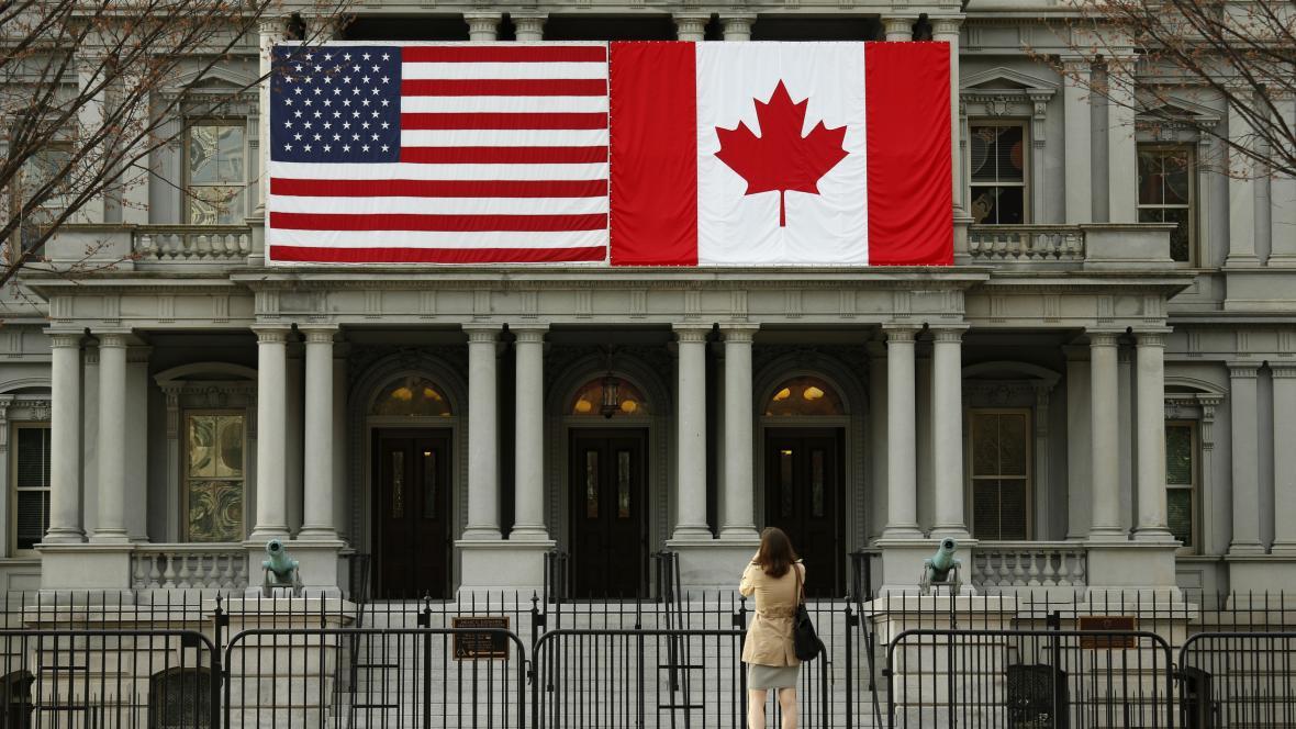 Vlajky USA a Kanady