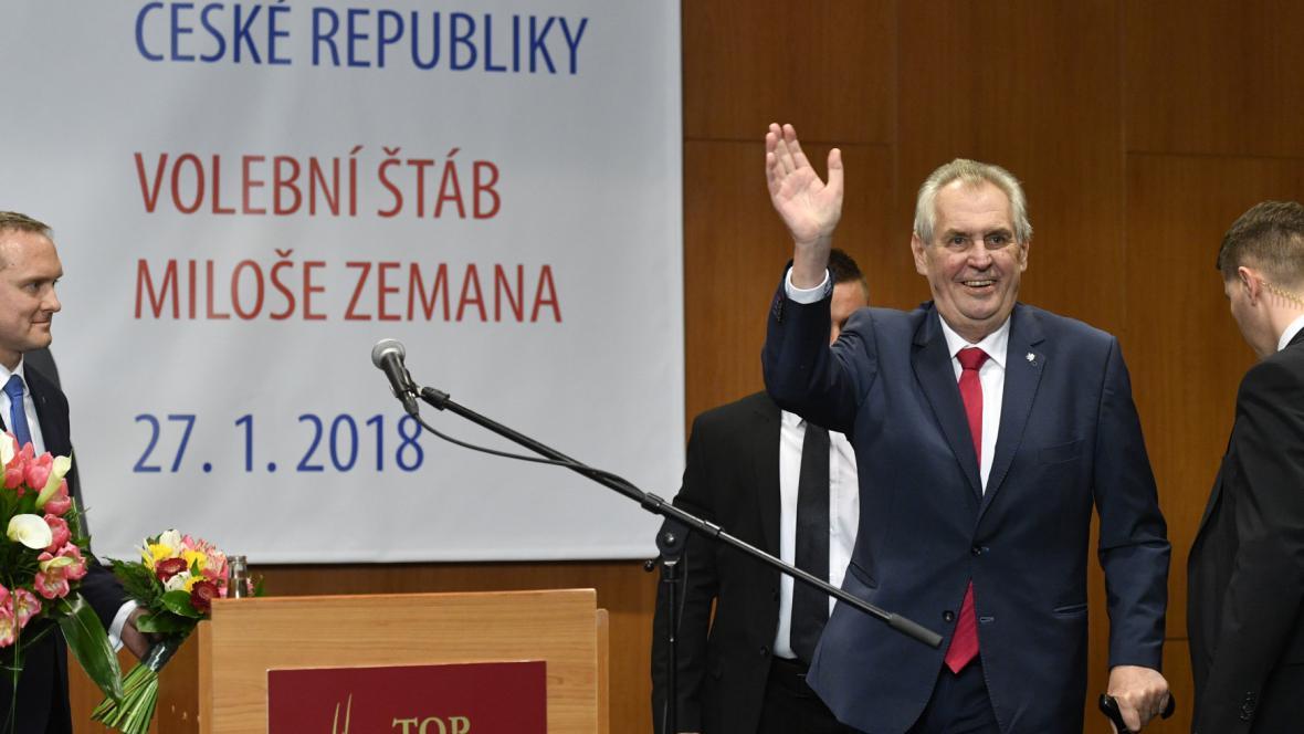 Vítěz Miloš Zeman - pro speciál