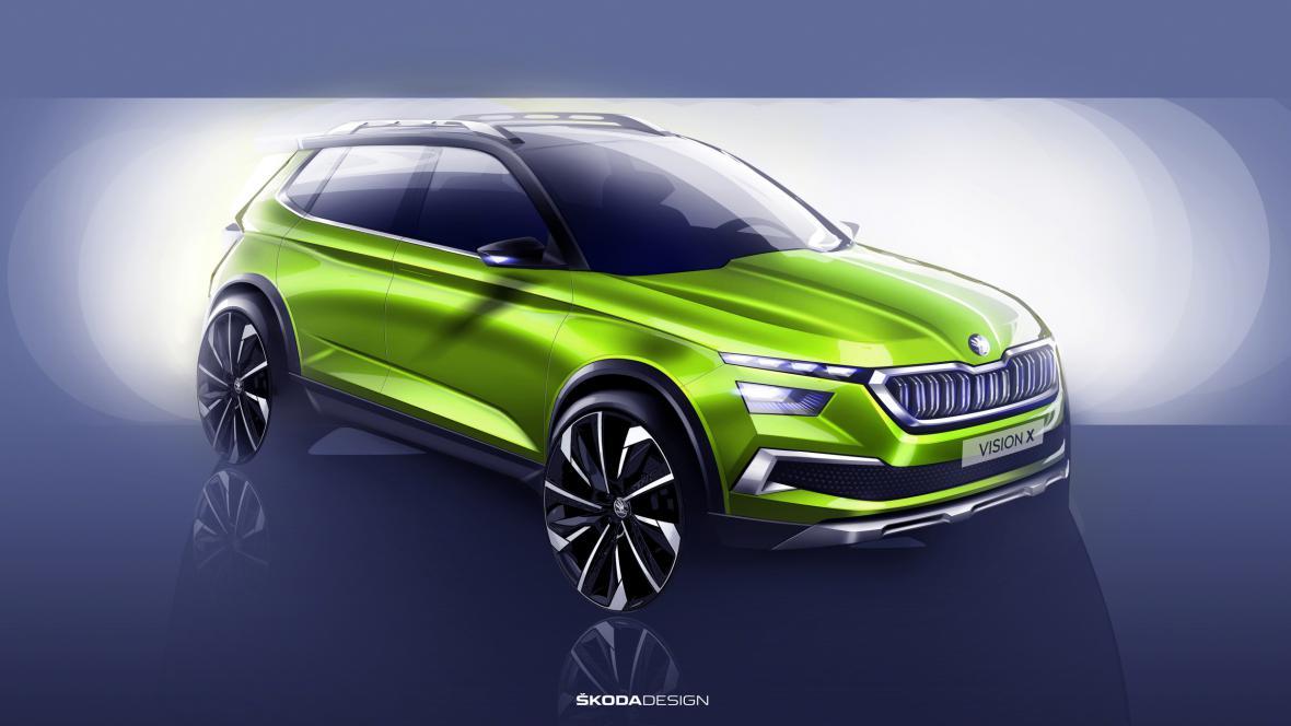 Vizualizace modelu Vision X od automobilky Škoda Auto