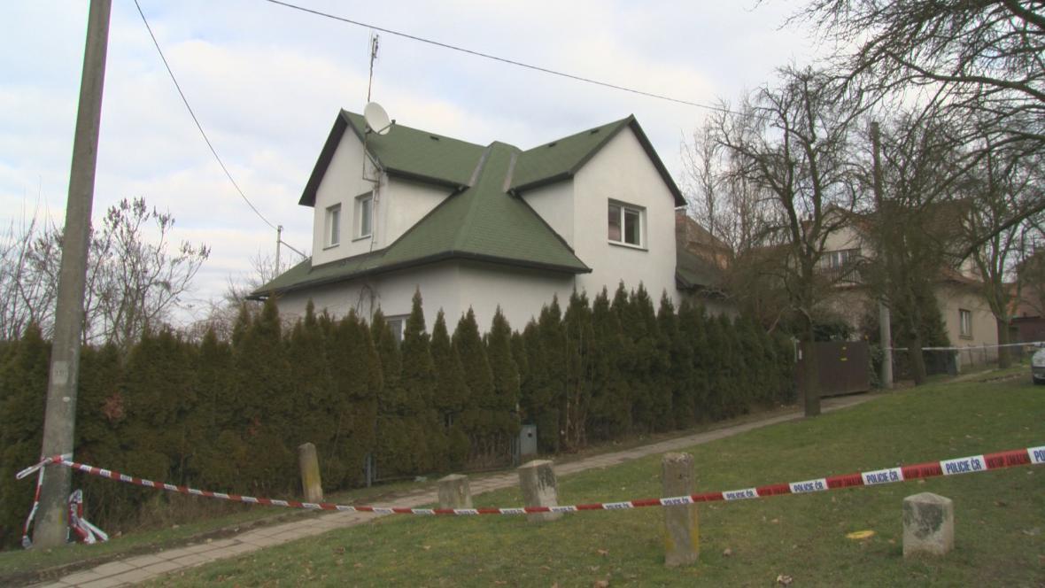 Dům v Podhoří, kde byla nalezena tři mrtvá těla