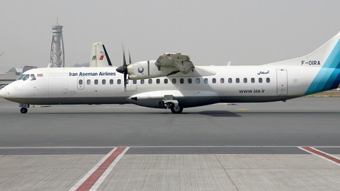 Letadlo ATR 72-500 společnosti Iran Aseman Airlines - ilustrační foto