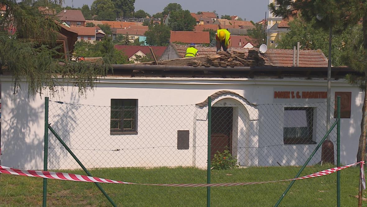 Oprava střechy Domku T.G. Masaryka