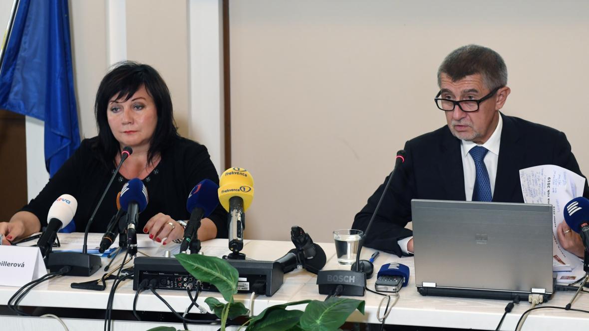 Alena Schillerová a Andrej Babiš
