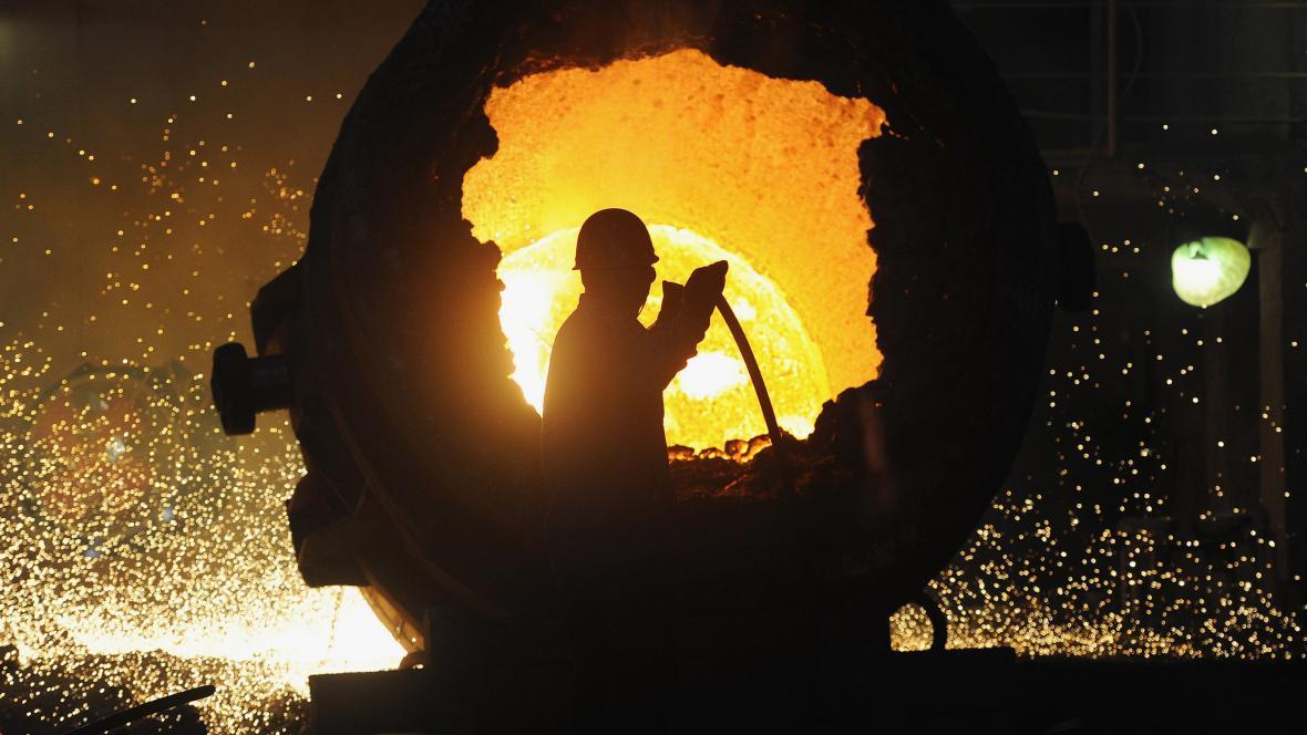 Výroba oceli v čínské provincii An-chuej