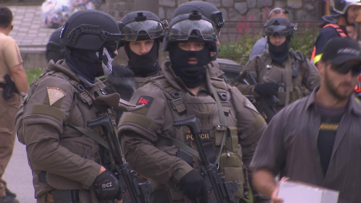 Policejní zásah v Kobylí na Břeclavsku