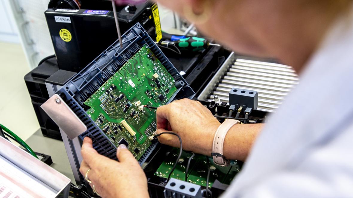 Výroba v závodě Siemens v Trutnově