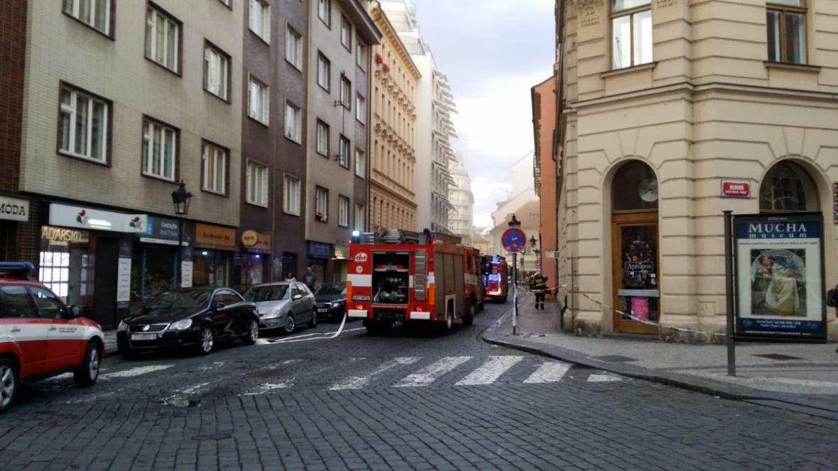 Zásah hasičů v místě úniku plynu