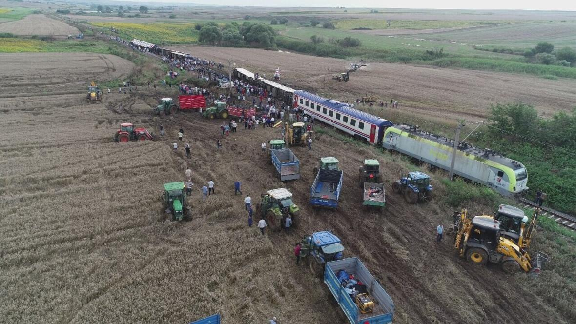 Železniční nehoda na severozápadě Turecka