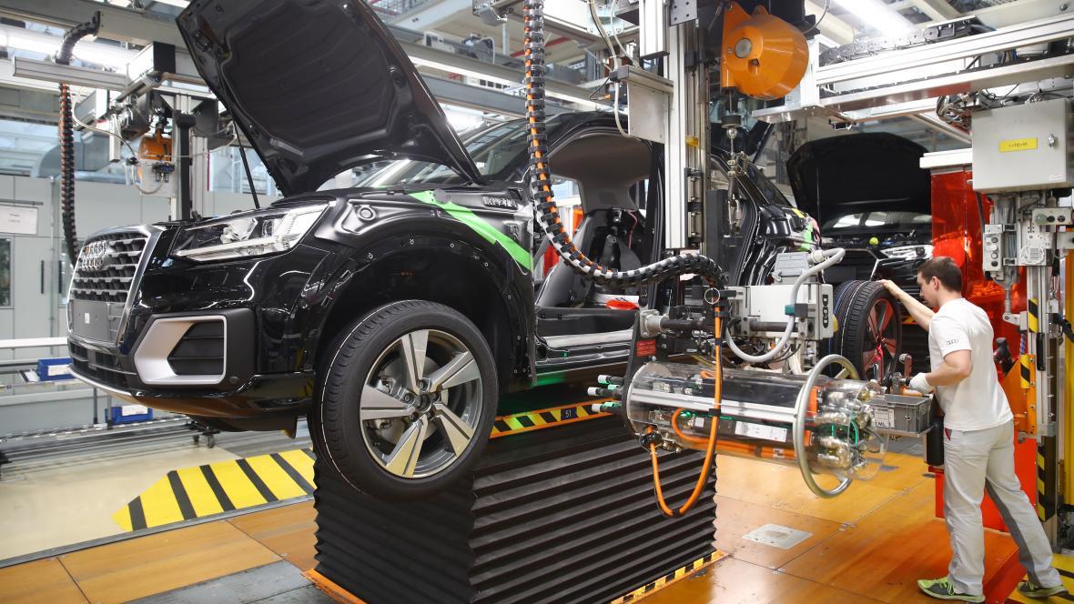 Výroba aut značky Audi v Německu