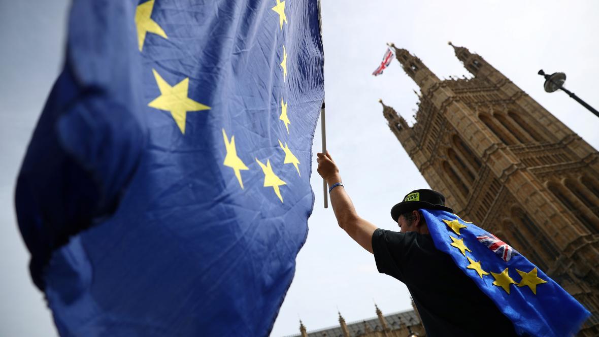 Demonstrant proti brexitu v Londýně