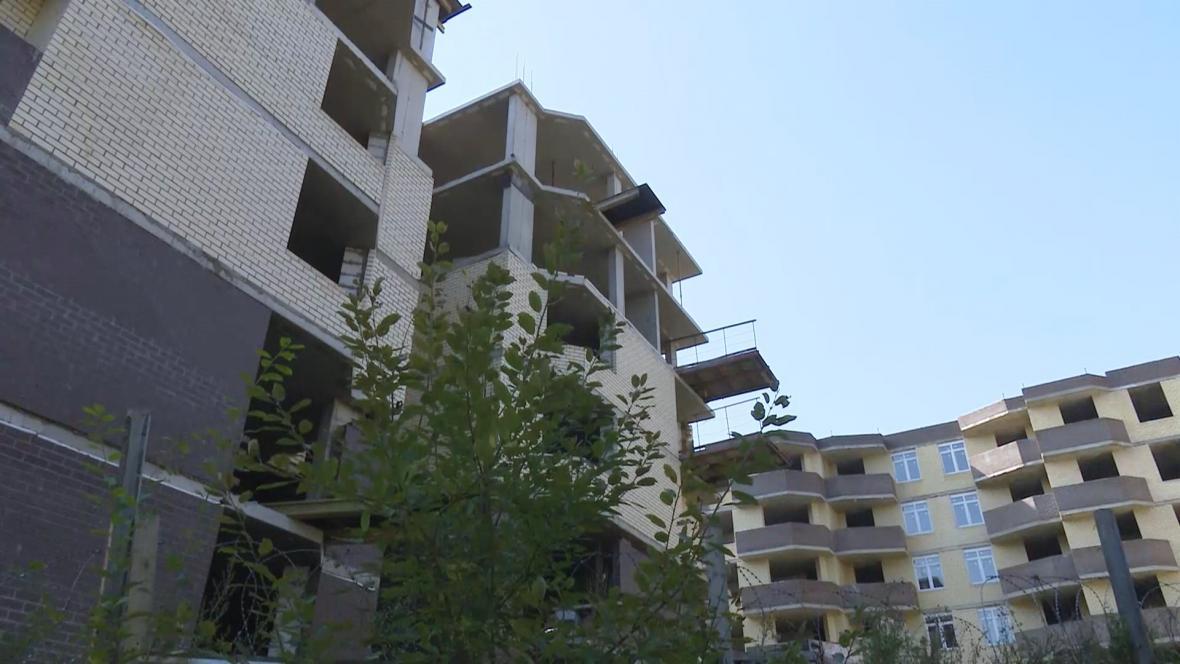 Rozestavěné byty u Moskvy