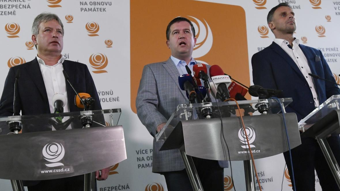Tisková konference ČSSD při komunálních volbách