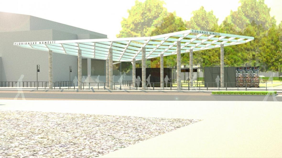 Předpokládaná podoba modernizovaného dopravního terminálu