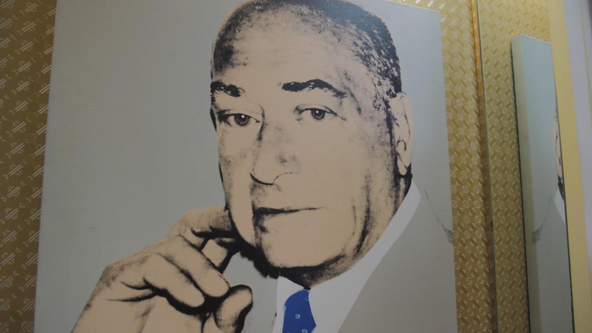 Vojtěch Blau na obrazu Andyho Warhola