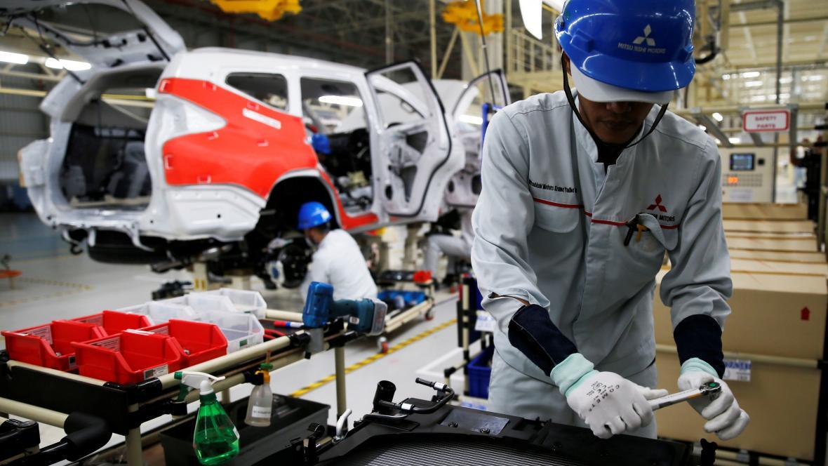 Výroba automobilky Mitsubishi v Indonésii