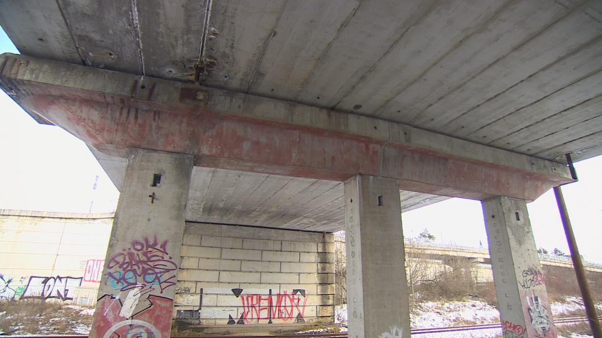 Most v Hrotovické ulici v Třebíči