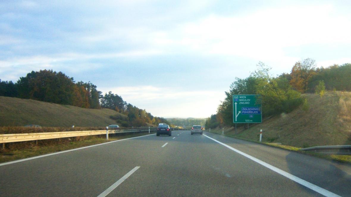 Dálnice D52 zatím končí u Pohořelic