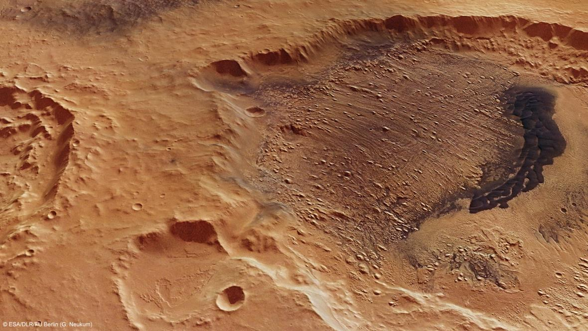 Krátery na Marsu